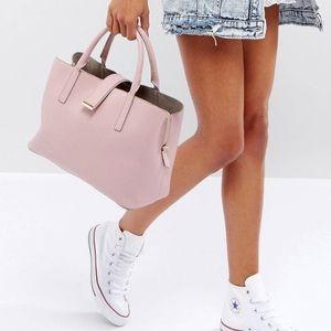 ASOS pink soft pinch lock tote bag